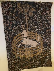Antique Jp Paris Tapestry The Unicorn -andnbspas Seen In The Harry Potter Filmand039s