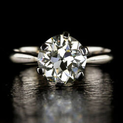 0.50 Ct Real Diamond Engagement Ring Solid 950 Platinum Band Size 5 6 7 8