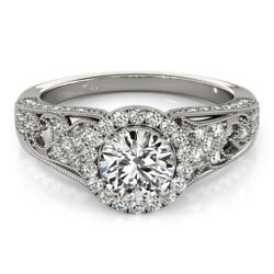 1.20 Ct Real Diamond Engagement Ring Solid 950 Platinum Rings Size 5 6 7 8 9
