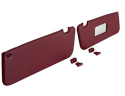 Sunvisor And Clips Set For Mercedes R107 W107 C107 Burgundy Color