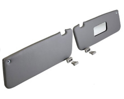 Sunvisor And Clips Set For Mercedes R107 W107 C107 Gray Color