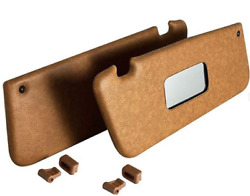 Sunvisor And Clips Set For Mercedes R107 W107 C107 Palomino Color