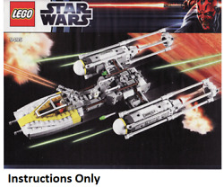 New Instructions Only Lego Gold Leader's Y-wing Starfighter 9495 Books From Set