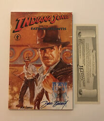 Indiana Jones And The Fate Of Atlantis Signed By Dan Barry Limited 231/2500 Coa