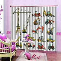 Suspension Cable Car Printing 3d Blockout Curtains Fabric Window Home Decor