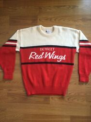 Rare And New Detroit Red Wings Cliff Engle Sweater Nhl Vintage 1980s Size Large