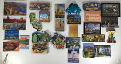 Lot Of 29 Refrigerator Magnets Tourist Spots And States In Usa Ca Ny Dc Az