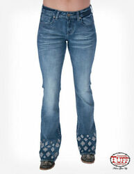Cowgirl Tuff Womenand039s Extreme Aztec Trouser Jeans Jexazt Size 32 X 33 Nwt