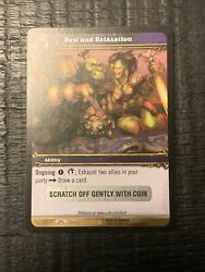 Rest And Relaxation Loot Card World Of Warcraft Picnic Basket Wow Tcg Toy Box