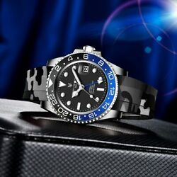 2020 Lige New Sports Watch Men Automatic Mechanical Watch 316l Stainless Steel