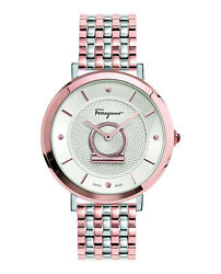 Womens Ip Rose Gold/stainless Steel Salvatore Ferragamo Watches Minuetto