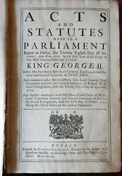3 Books In One, 1732/1734/1738. Acts And Statutes Made In Dublin, Ireland