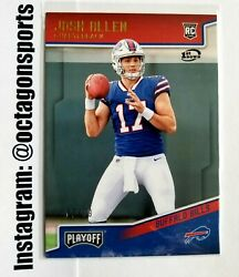 2018 Panini Playoff 1st Down Josh Allen Rc 17/99 1/1 Jersey Number