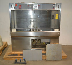 Leatherwood 72 Lab Parts Cleaning Wet Solvent Bench Stainless 2-tank Kidde Fire