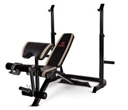 Marcy Home Gym, Adjustable Olympic Weight Bench And Squat Rack