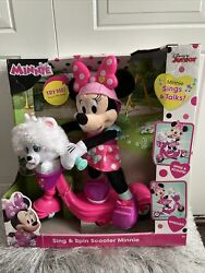 New Minnie Helper Scooter 13 Feature Plush, Pink