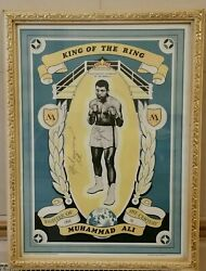 Muhammad Ali Signed King Of The Ring Poster. Printed 1971