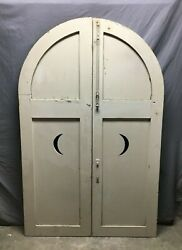 Antique Half Round Moon Shutters Arched Doors 22x69 Screen Divider Vtg 161-21b