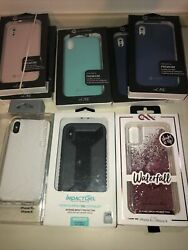 Lot Of 8pc Mworks Mix Authentic Case's/covers For Iphone Xs
