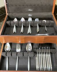 Gorgeous Vintage 49 Piece Wallace Sterling Silver .925 Spanish Lace Silverware