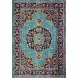 Bashian Heritage Carlos 8and0397 X 11and0396 Area Rug In Teal