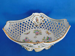 Herend Queen Victoria Traced Giant Serving Plate Holder Porcelain Vbo