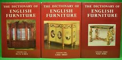 The Dictionary Of English Furniture Volumes 1-3 Edwards, Ralph