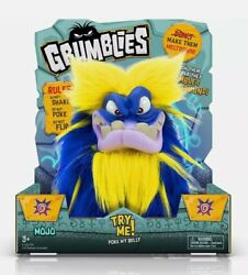 Pomsies Grumblies Mojo Blue Plush Interactive Monster Toy Short Tempered