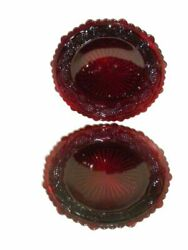 Avon Vintage Cape Cod 1876 Dessert Plates Dishes Ruby Red Collection Set Of 2