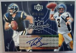 2003 Upper Deck Pros And Prospects Drew Brees Autograph Signed And Kyle Boller Card