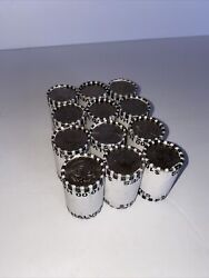 Lot Of 12 Bank Sealed Kennedy Half Dollar Coin Rolls - Unsearched Coin Lot