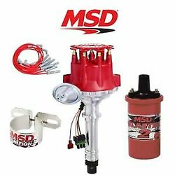 Msd 9901 Ignition Complete Kit Ready To Run Distributor/wires/coil/bracket - Bbc