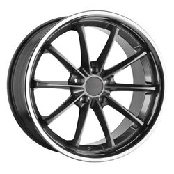 Tsw Sweep 19x9.5 5x114.30 Offset 20 Gloss Gunmetal With Stainless Lip Qty Of 4