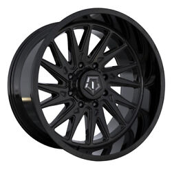 Tis 547b 20x10 5x150 Et-19 Gloss Black With Milled And Painted Lip Logo Qty Of 4
