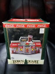 1996 Coca Cola Town Square Christmas Village Collection - Scooter's Drive In