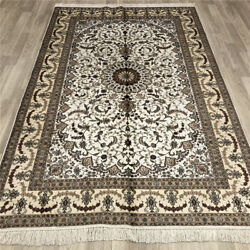 Yilong 5'x8' Silk Area Rugs Vintage Handcraft Hand Knotted Indoor Carpets 021b