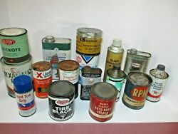 Lot Of 17 Various Vintage Gas And Oil Service Display Cans