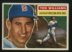 1956 Topps Ted Williams Gray Back 5 Ex Mt
