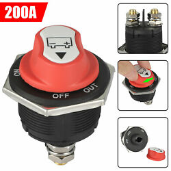 200a Battery Isolator Switch Disconnect Power Cut Off Kill For Car Boat Rv Truck