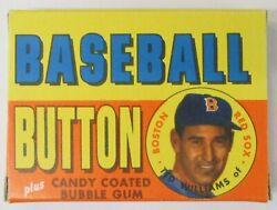 1956 Topps Baseball Buttons Pinbacks Ted Williams Empty Box Higher Grade