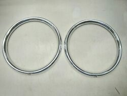 1963 63 Ford Galaxie Taillight Aluminum Trim Ring Rim Kit New