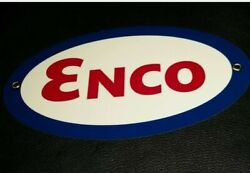 Enco Gas Oil Gasoline Sign .. Free Shipping On Any 8 Signs