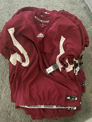 Lot Of 55 Adidas Techfit Hyped Football Jersey Red/white Menand039s All Sizes Az9305