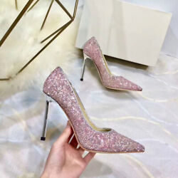 2021 Ladies Luxury Classic Style Sexy High Heel Sequin Shoes Top Hot