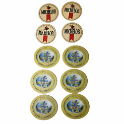 Lot Of 10 New Michelob And Michelob Golden Draft Light Mn Vintage Beer Coasters