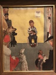 At The Vet's By Norman Rockwell Canvas Print