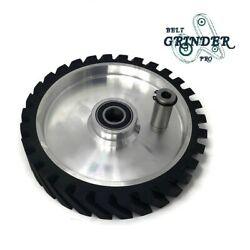 10 Belt Grinder Contact Wheel Serrated Rubber With 2 Heavy Duty Bearing 6205 Rs
