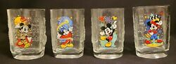 Vintage 4 Disney World 2000 Mcdonalds Collector Mickey Mouse Square Glasses