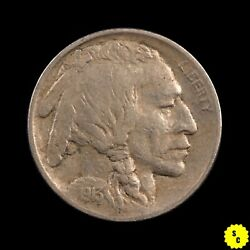 1913 Type 1 Buffalo Nickel, Xf Condition, Full Horn First Year Indian 144