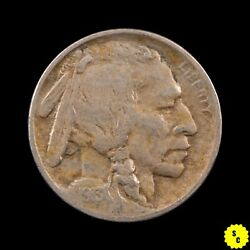 1913 Type 1 Buffalo Nickel, Vf Condition, Nearly Full Horn, First Year 147